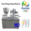 MIC-R30 manual tube filling and sealing machine for toothpaste, cosmetic cream and color pigment