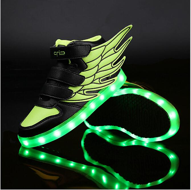 2016 NEW children sneakers USB charging kids LED luminous shoes boys girls of colorful flashing lights sneakers