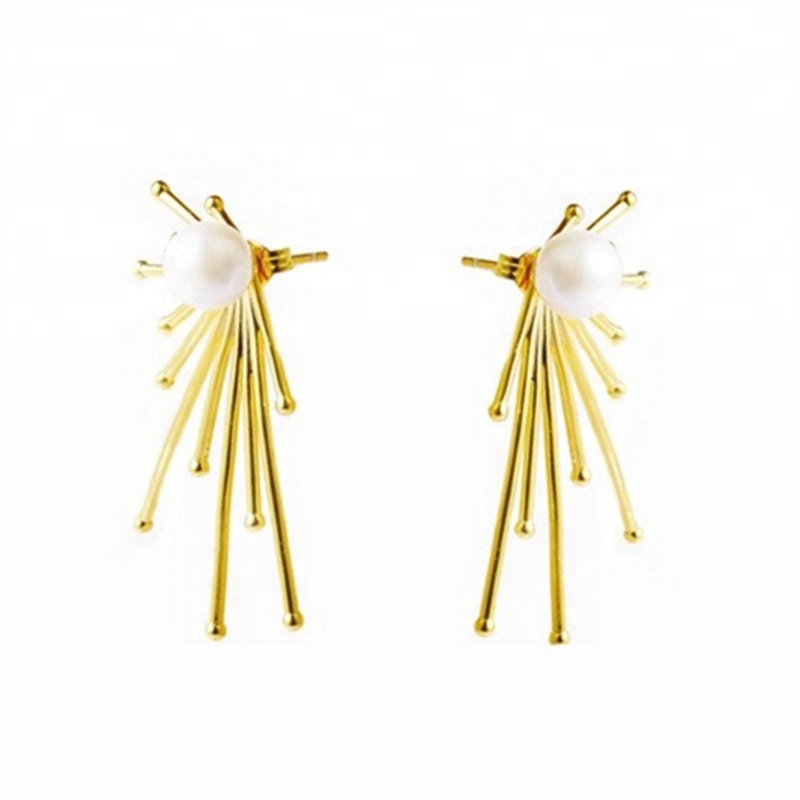 Xus female retro Temperament wild hipster normcore <strong>pearl</strong> <strong>stud</strong> <strong>earrings</strong>