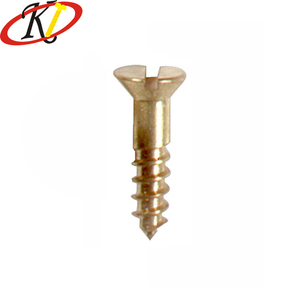 Chinese manufacturer Oukailuo Plain Brass M2 Slotted flat head self tapping screws for sheet metal