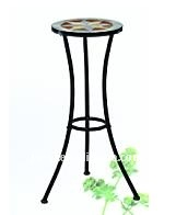 steel ceramic plant stand[2012 newstyle outdoor funiture]