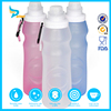 550ml silicone foldable sport water bottle