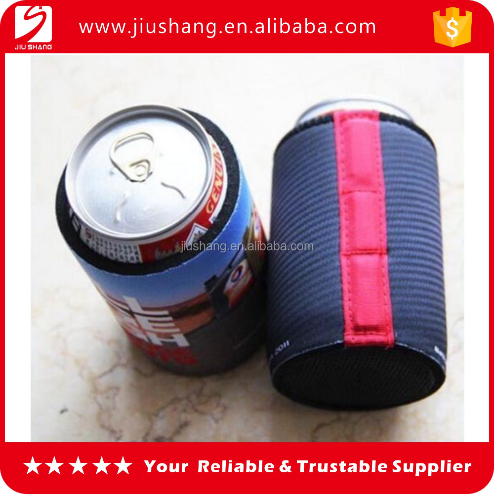 Neoprene magnetic can cooler for beer using