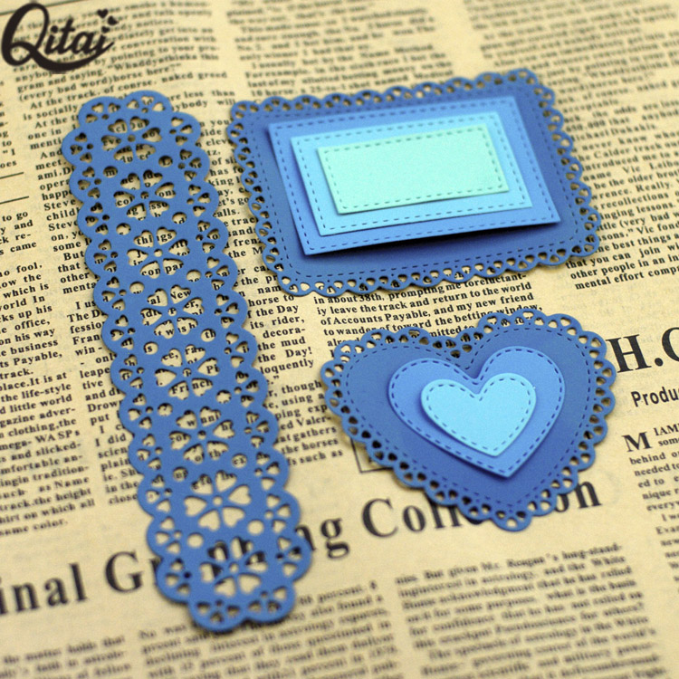custom rectangle craft steel paper metal cutting dies for scrapbooking