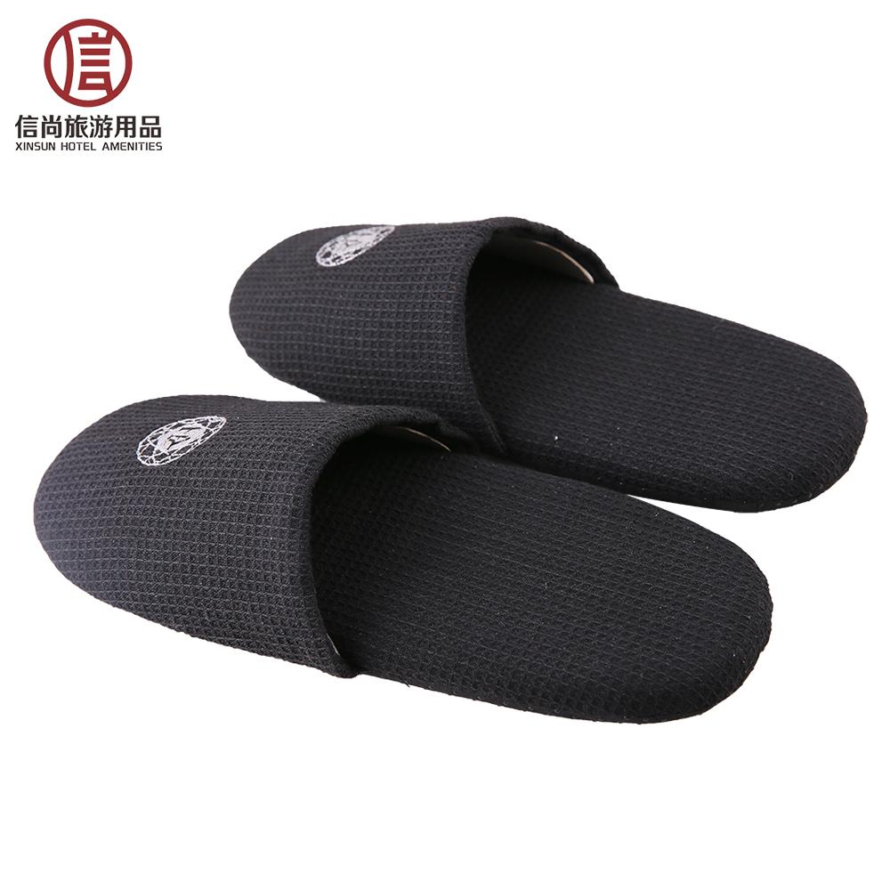 6d0588f6fed3b2 Hotel custom velvet eva black foam slippers - Arisemacro