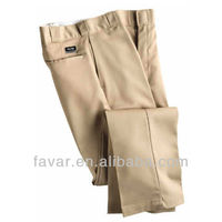 khaki men's public safety twill chino cotton mens pants