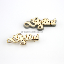 Custom Brand Metal Letters Engraved Tag Metal Logo