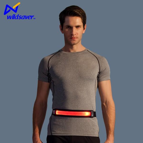 Custom logo running belt waterproof led flash waist pack running belt for smartphone