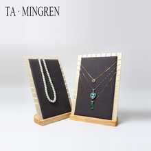 Latest Fashion 나무 <span class=keywords><strong>보석</strong></span> Necklace Displays 서 랙 Jewelry Display 대 한 Bracelet
