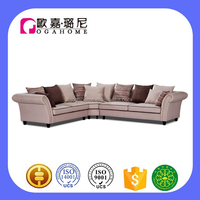 S15922 half round sectional vintage classic america country furniture sofa
