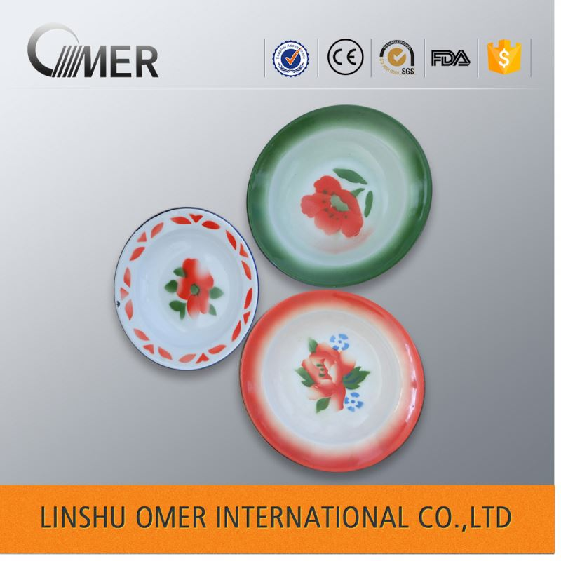 hot sell custom decorative enamel plate