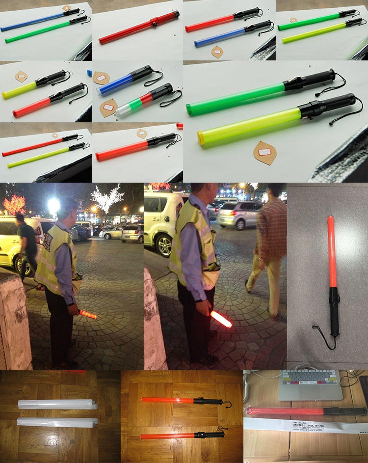 54cm led warning traffic baton for police