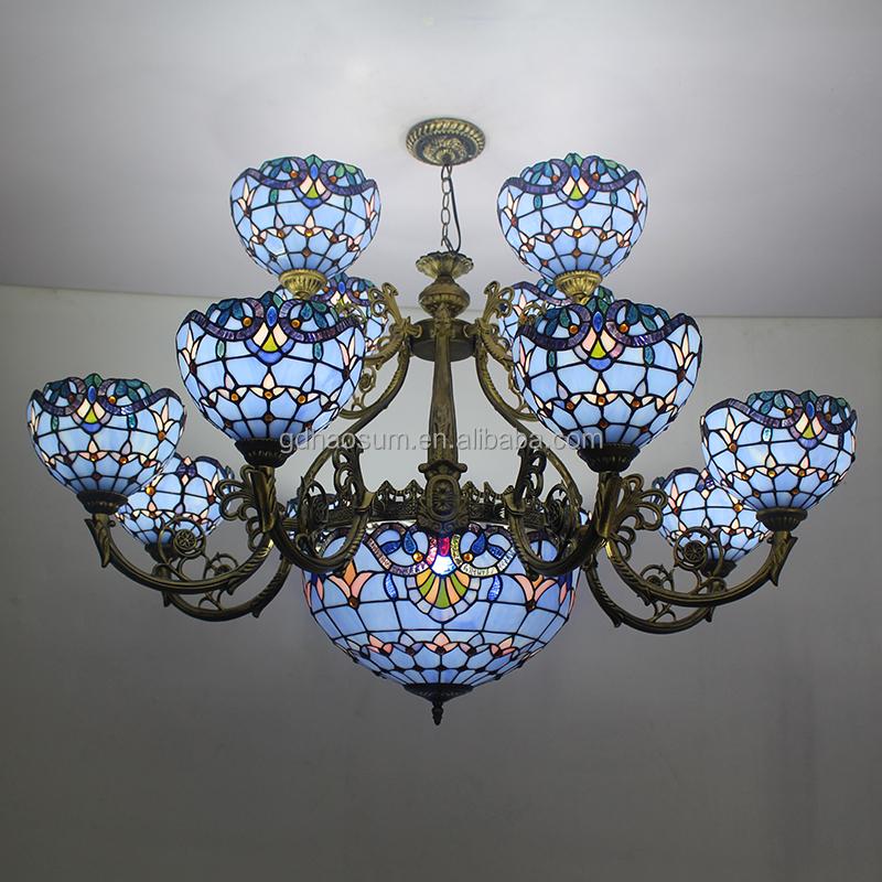 lampadario vetro colorato : tiffany lampada in vetro colorato lampadario da soffitto-Lampadari-Id ...