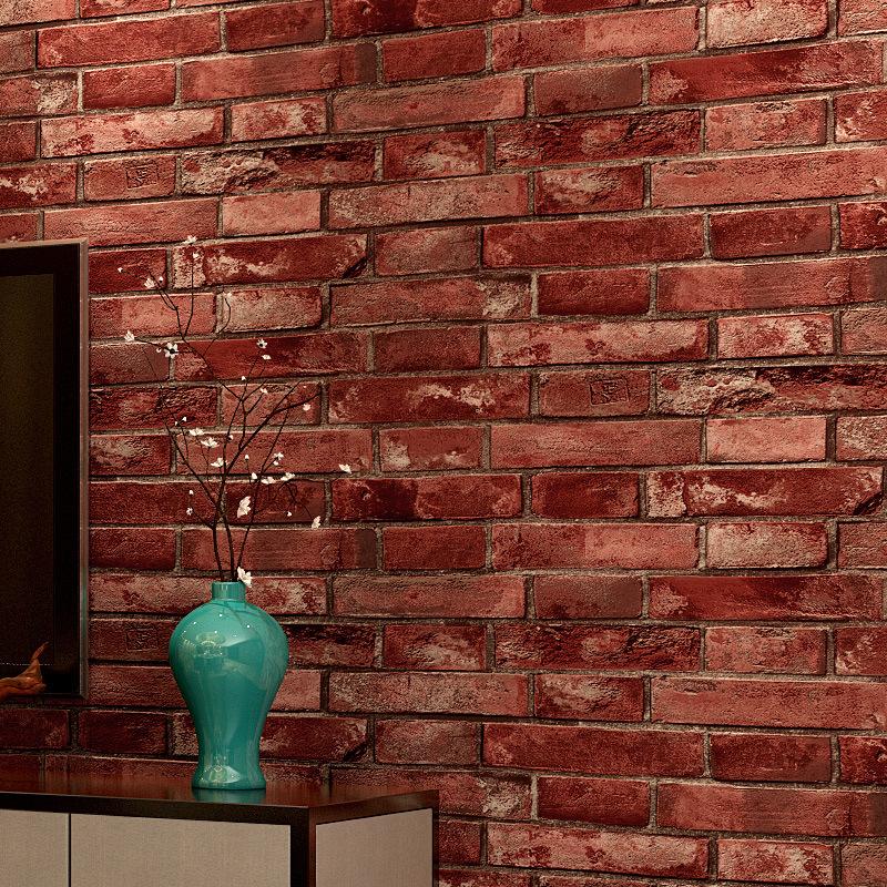 simulateur papier peint amovible vinyle d papier peint simulation brique pierre rustique effet. Black Bedroom Furniture Sets. Home Design Ideas