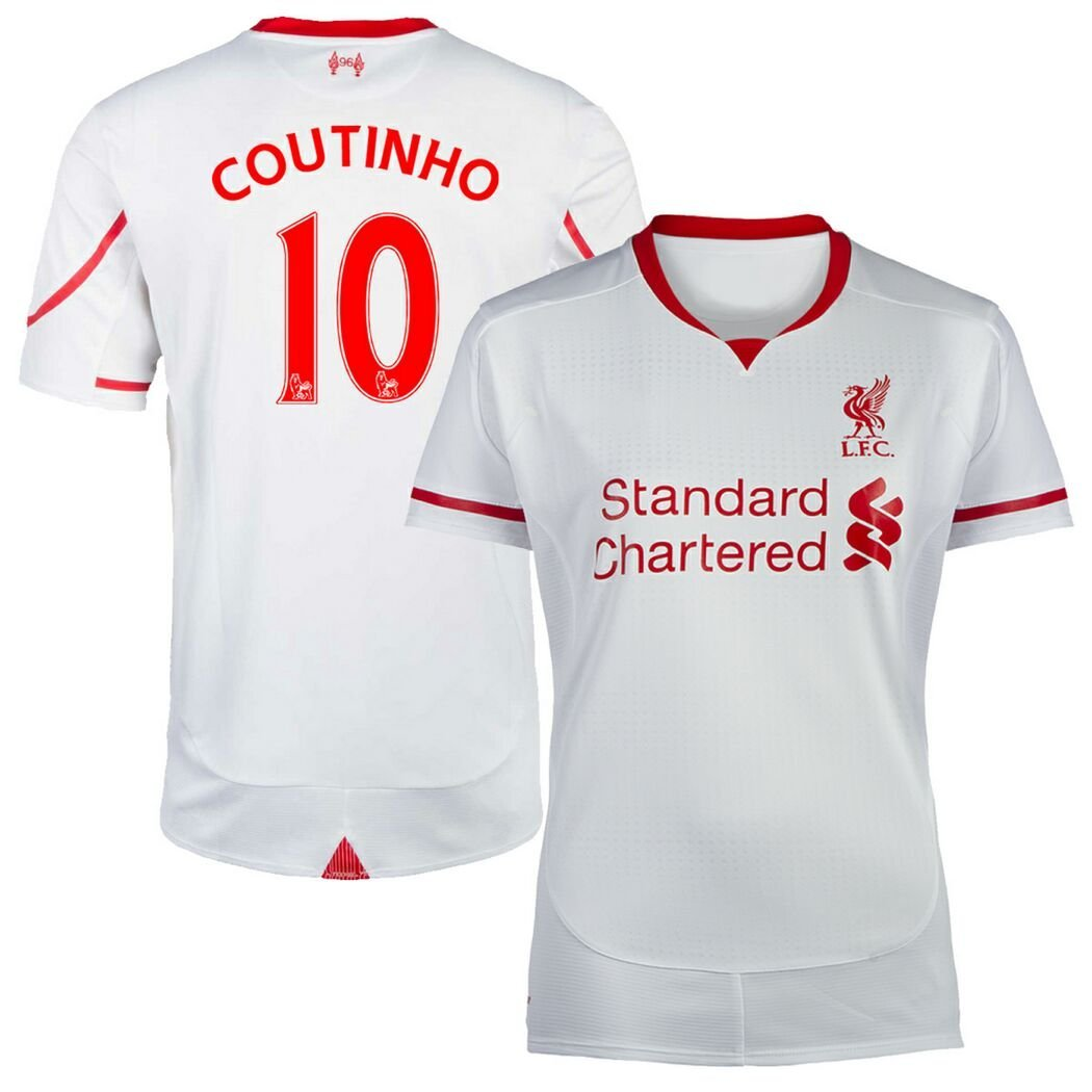 691292bf9 Get Quotations · FC Football Jersey Womens Liverpool  10 COUTINHO Away  Soccer Jersey White