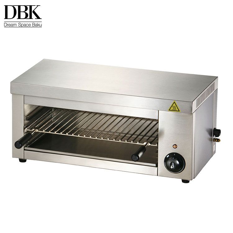 Hot sale stainless steel counter top electric salamander grill for restaurant