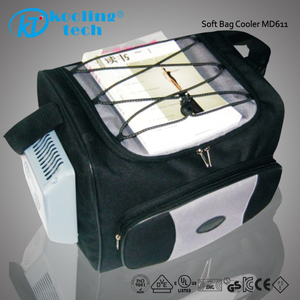 Mini electric insulated rechargeable icebox cooler bag with bluetooth speaker