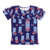 Wholesale short sleeve ruffle children kids clothes girl t shirts printing
