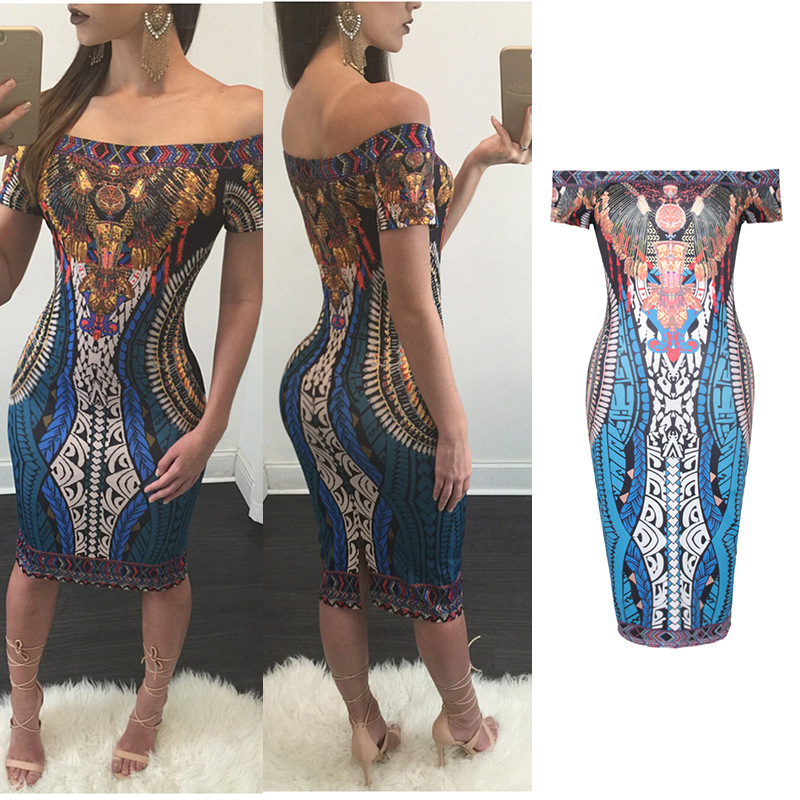 X61634A 2017 New fabric pattern african style dress for women