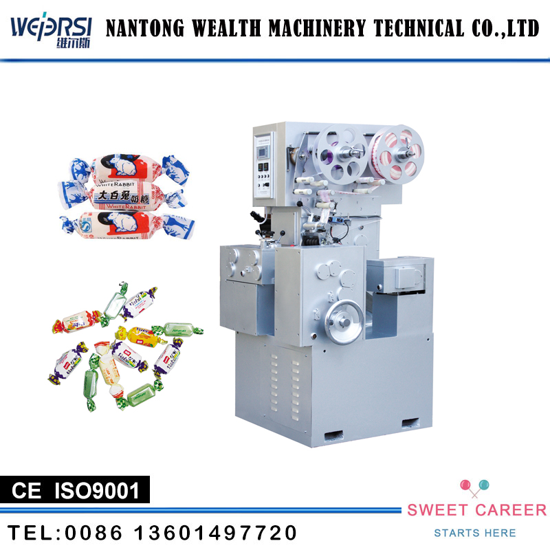 China Supplier Toffee Candy Cutting And Double Twisting Wrap Pack Machinery machine