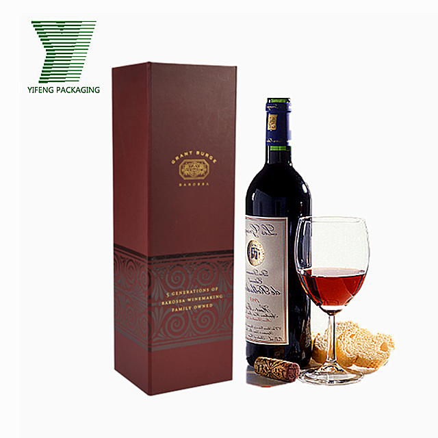 Luxury Gift Packaging Single Bottle Paper Red Creative Wine Box Buy Wine Box Wine Gift Box Wine Packaging Product On Alibaba Com