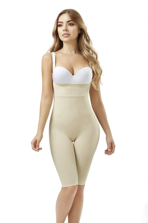 122f15ee6d747 Get Quotations · Faja Shapewear Strapless BioCrystals Full Body Shaper  Cincher Bodysuit