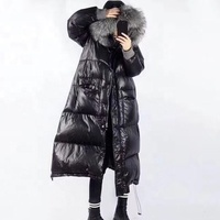 New Thick Long Coat Raccoon Fur Collar Winter Jacket High Quality Hooded Down Coat Down Parka
