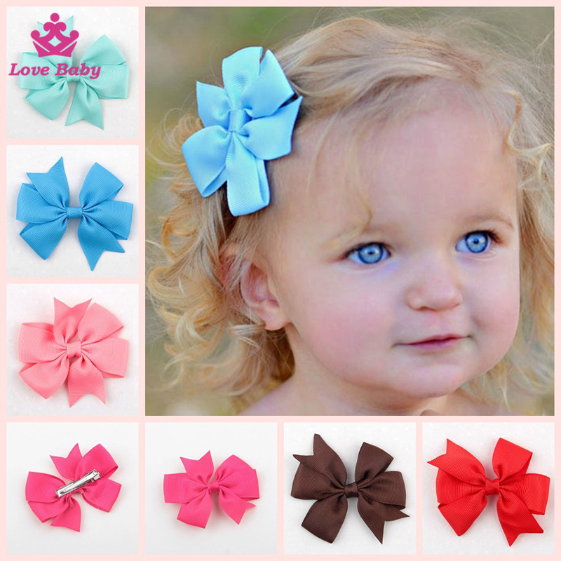 Hot Sale Hair Clip Ribbon Fishtail Bowknot Hairclips Wholesale Baby Girls Multicolor Hair Accessories
