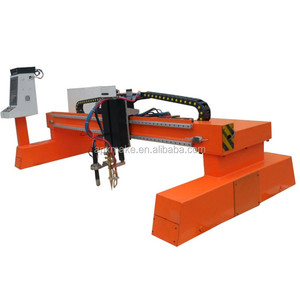 Heavy duty table plasma cutting machine with drilling head Huayuan power