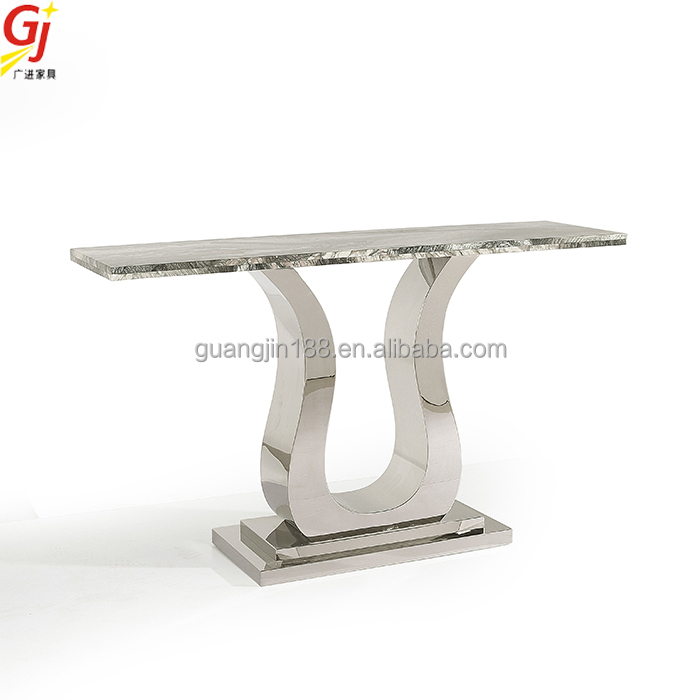Modern Marble Top Stainless Steel Console Table With Mirror, Modern Marble  Top Stainless Steel Console Table With Mirror Suppliers And Manufacturers  At ...