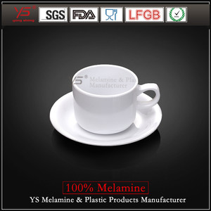 Yongsheng Eco-friendly 100% melamine coffee plates,conveyor plate,dish caddy 300mm plate