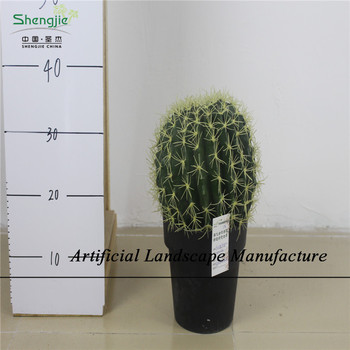 Sjzc08 Whole High Quality Artificial Ball Cactus Small Plant With A Pot