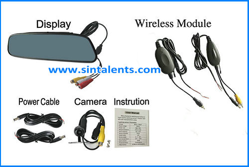 Hot selling LCD wireless parking sensor with camera vehicle reverse parking sensor system