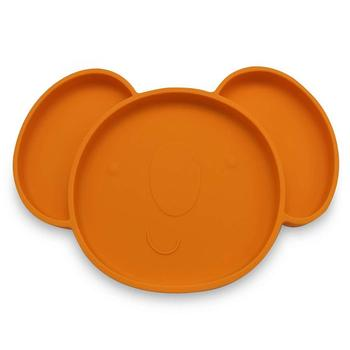 BPA free  round  suction  silicone placemat for baby