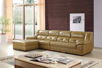 Modern Carved Leather Sofa Olive Green Turkish Sofa Furniture