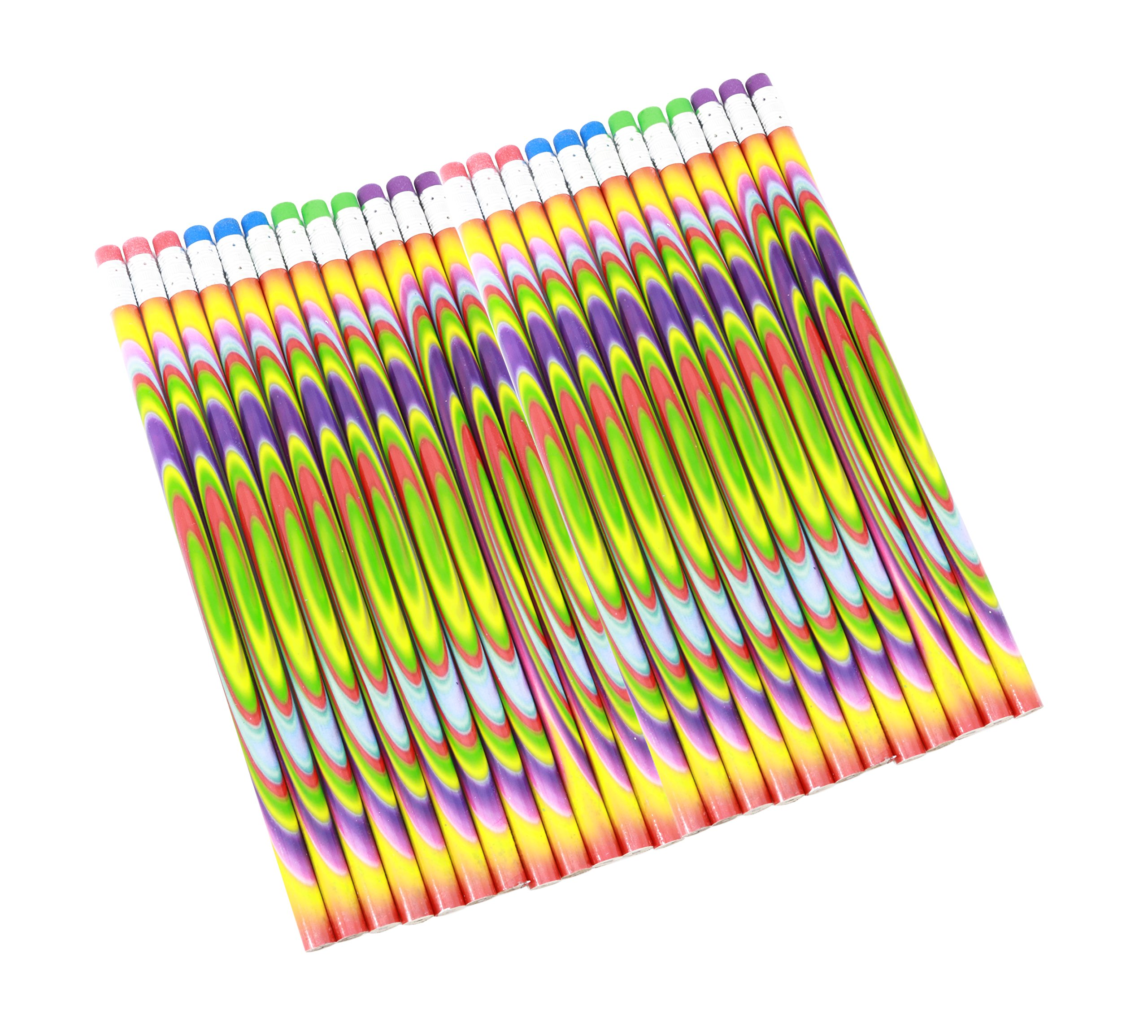 Colorful Tie Dye Pencils Bulk Pack Of 144 Pencils For School Supplies And Classroom Rewards