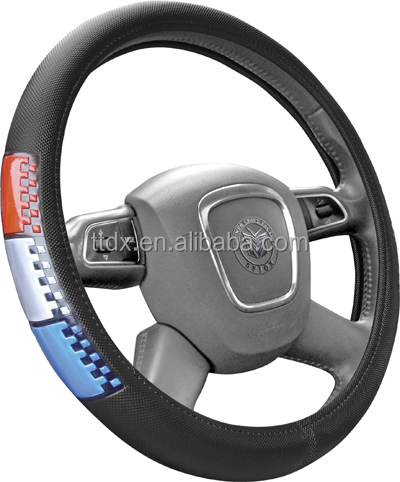 Green Color PVC+ reflective car steering wheel covers sale from manufacture