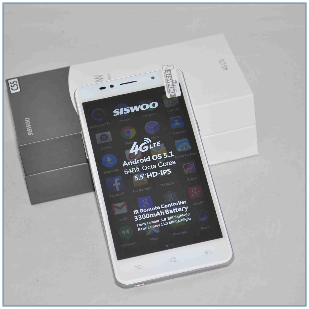 Best Price SISWOO C55 Pro Android 5.1 MTK6753 Octa Core 1.3Ghz 4G Lte 2+16GB Unlocked Smartphone Support WiFi Bluetooth phone