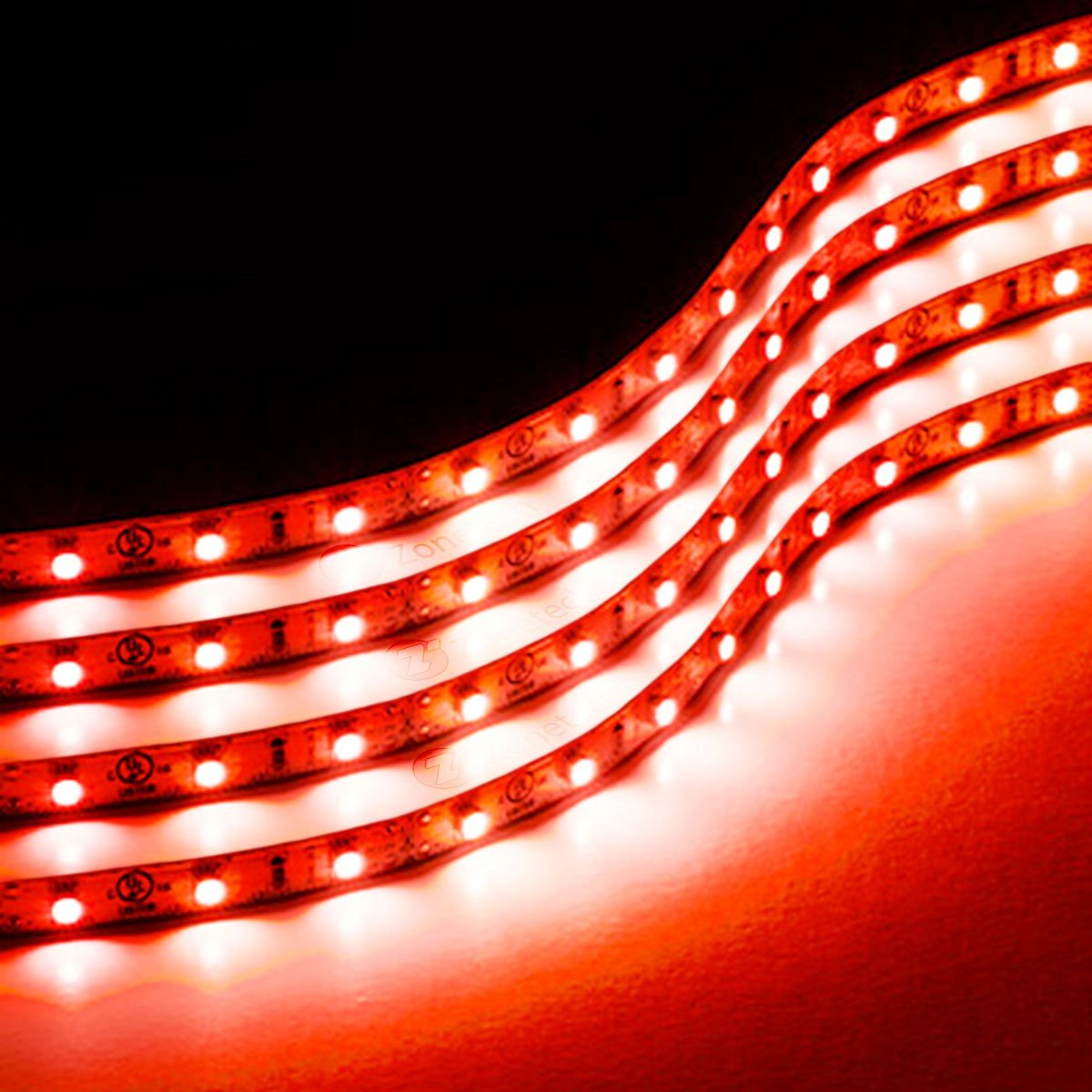Cheap 12 volt red led light strips find 12 volt red led light zone tech 30cm flexible waterproof red light strips 4 pack led car flexible waterproof red mozeypictures Choice Image