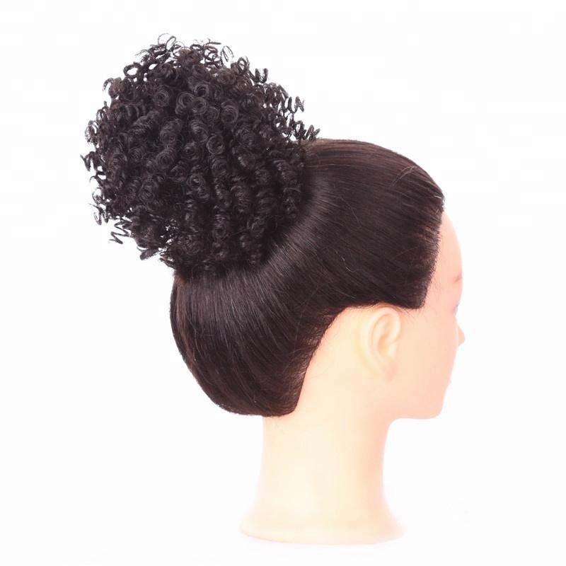 Synthetic Afro Kinky Curly Hair Bun Extension Donut Chignon Hair