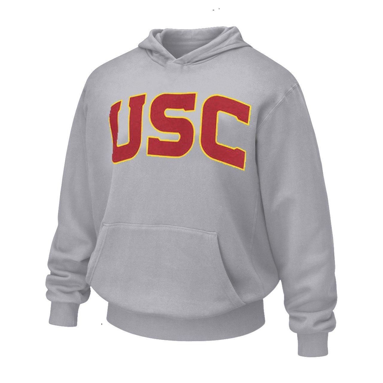 USC Trojans Adult Wordmark Hooded Sweatshirt - Gray