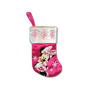 "Disney 7"" Mini Satin Christmas Stocking with Embroidery & Hangtag (Minnie Mouse)"