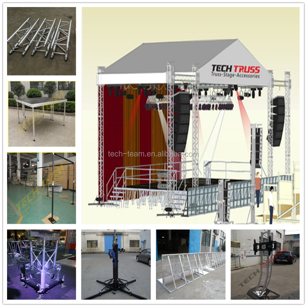 Outdoor used heavy duty hot dip ST6 iron stage  layer stage