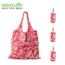 Flower Pocket Ripstop Grocery Reusable Recyclable Folding Nylon Bag Eco Foldable Shopping