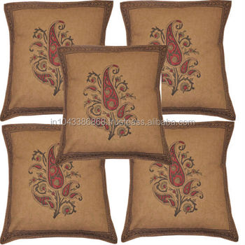 Hand Embroidered Pillow Covers Wholesalers Ethnic India Cushion