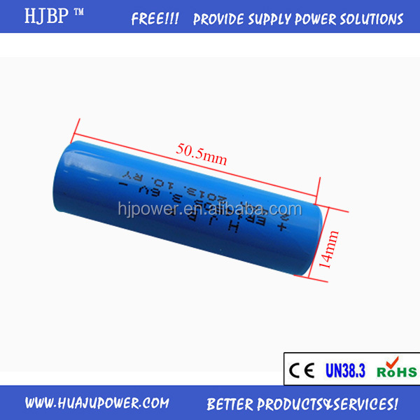 Hot Offer AAA 3.6V 700mAh Cylindrical Lithium Battery Er10450 for Smoke Detectors