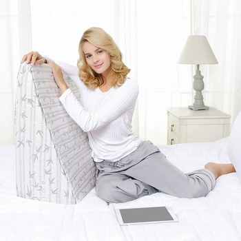 Bed Memory Foam Wedge Pillow - Reduces Back Pain & Improves Circulation