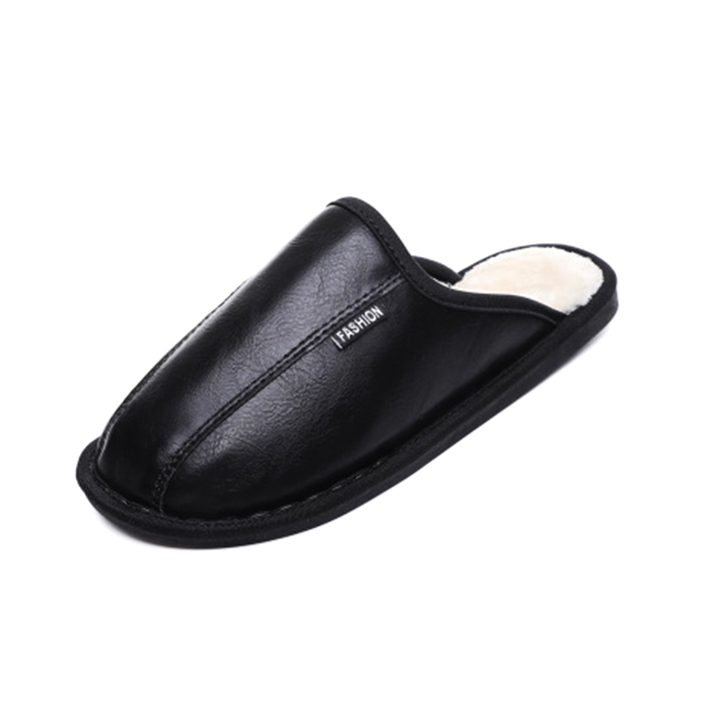 Winter PU warm rubber sole stocks home bedroom women man <strong>slippers</strong>
