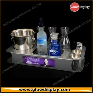 China Wholesale Metal Bottle Service Trays for VIP Table