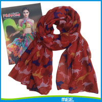 100% polyester printed lovely dog scarf